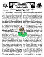 Autumn 2004 newsletter in English