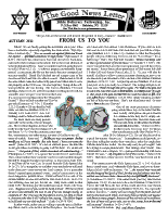 Autumn 2011 newsletter in English