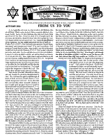 Autumn 2012 newsletter in English